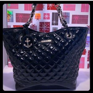 NWOT  Ann Klein Black Quilted Tote/Shoulder Bag.